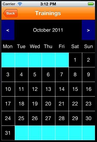 Календарь для iPhone